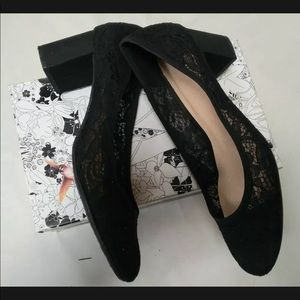 CL Chinese Laundry 9.5 Ada Floral Lace Black Pumps